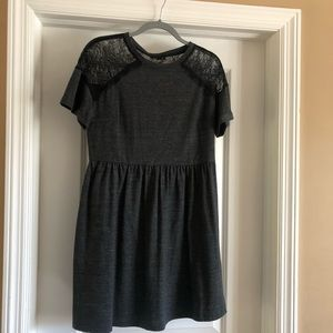 Top shop dark gray dress